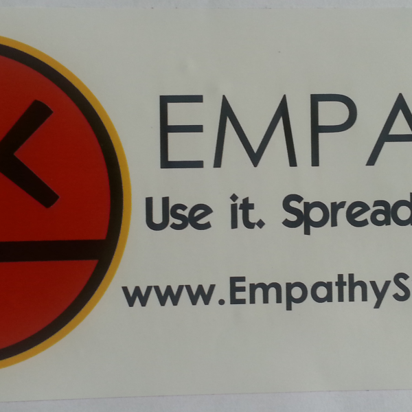 EmpathySymbolBumperSticker